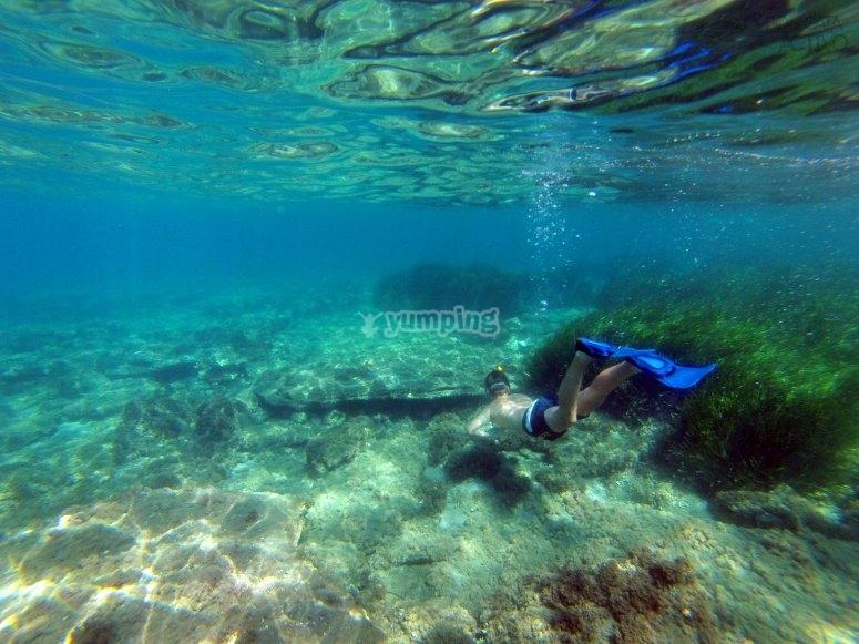 加波角的浮潜