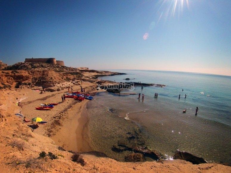 阿尔梅里亚海岸的城堡