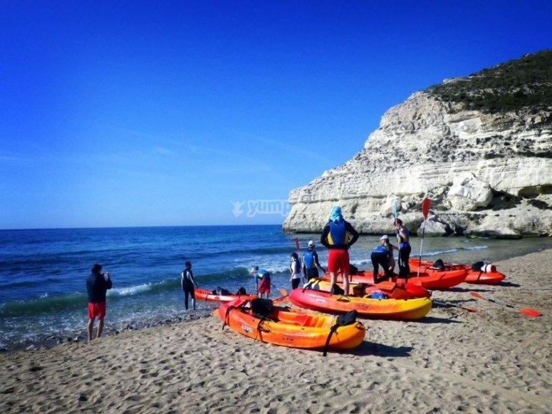 alquiler kayak doble Cabo de Gata