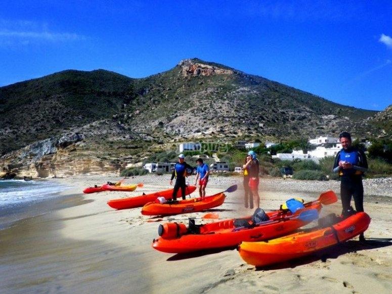 Jornada en kayak doble