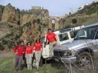 With the vehicles in Ronda