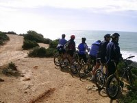 Peeking out to sea with the bikes