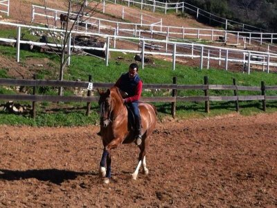 Horse riding. Sierra Aracena, Picos de Aroche