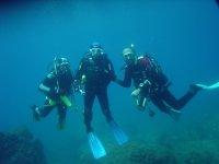 three divers