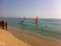 帆板帆板运动的经验教训课程在赫罗纳帆板降低