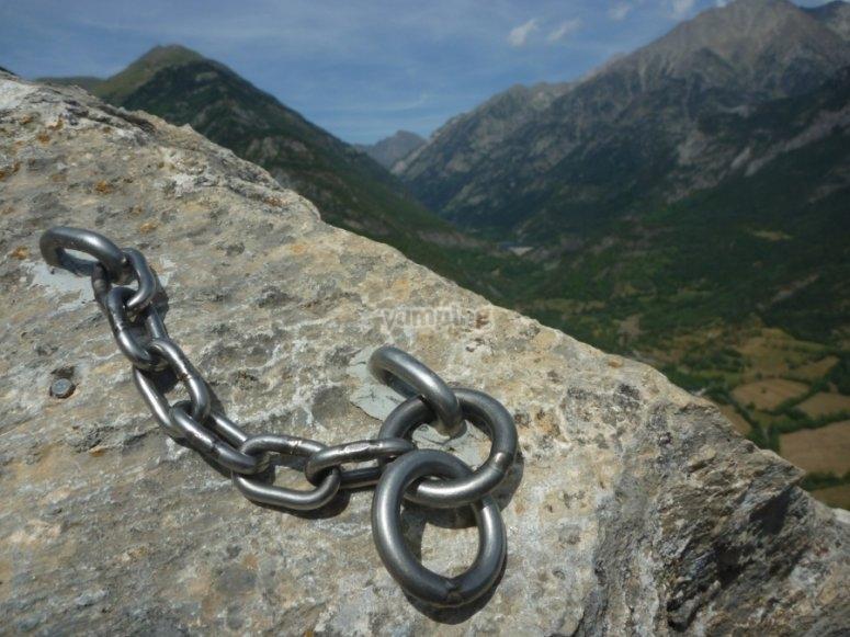 Climbing the mountain wall