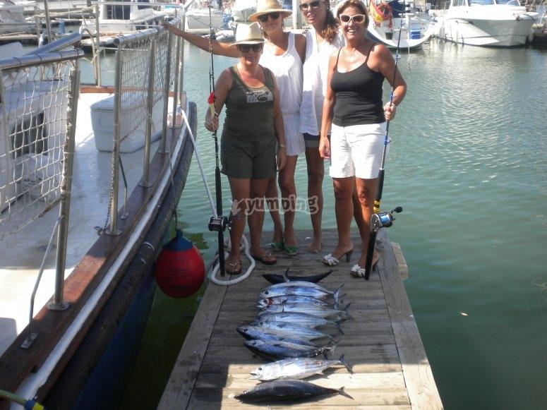 Pesca en la Costa de la Luz desde barco