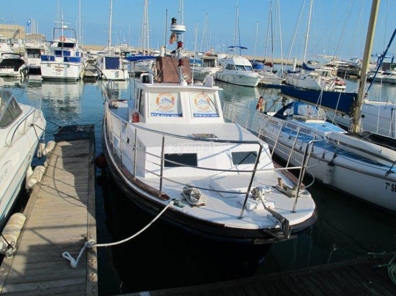 Nuestro barco, listo para zarpar