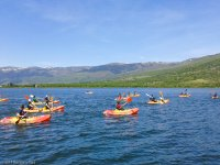 Canoeing with the Sierra de Guadarrama views behind