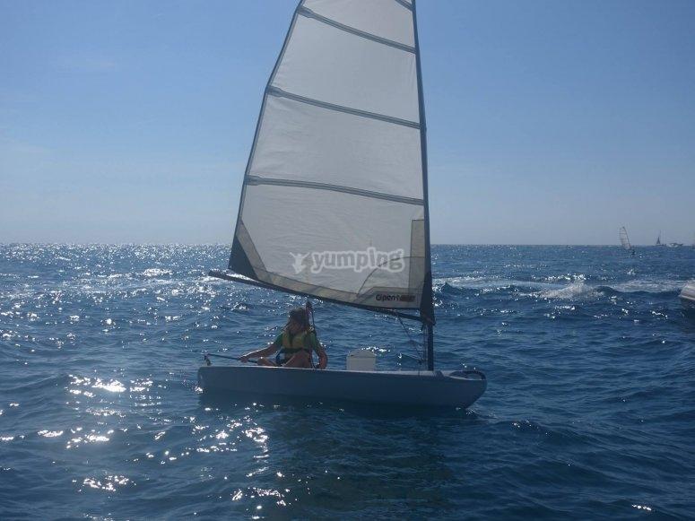 Aprendiendo a navegar en Barcelona