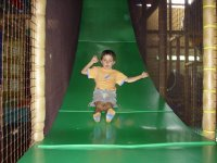 Going down the slide