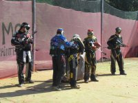 Playing a game of paintball in Girona