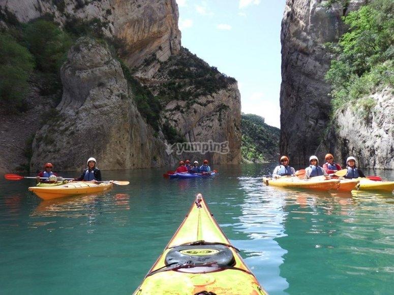 Kayak family trip