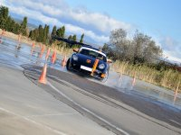 Learn how to drift with the Porsche