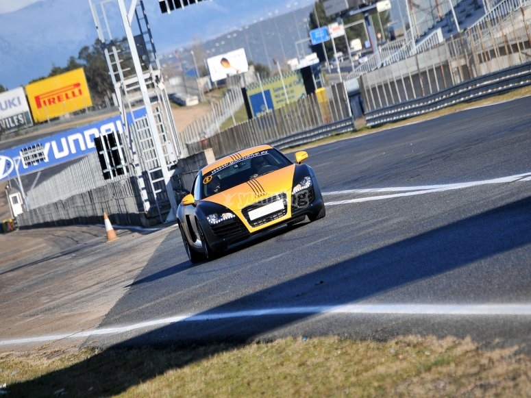 Driving a competition Audi