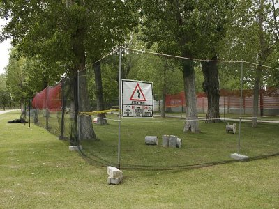 Portable paintball and town celebrations