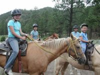 With the kids by horse