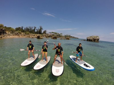 Paddle surf lesson in Noja + photoshoot, 2 hours