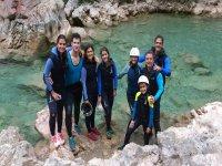 Aquatic hiking, level I-II, Sierra Guara.
