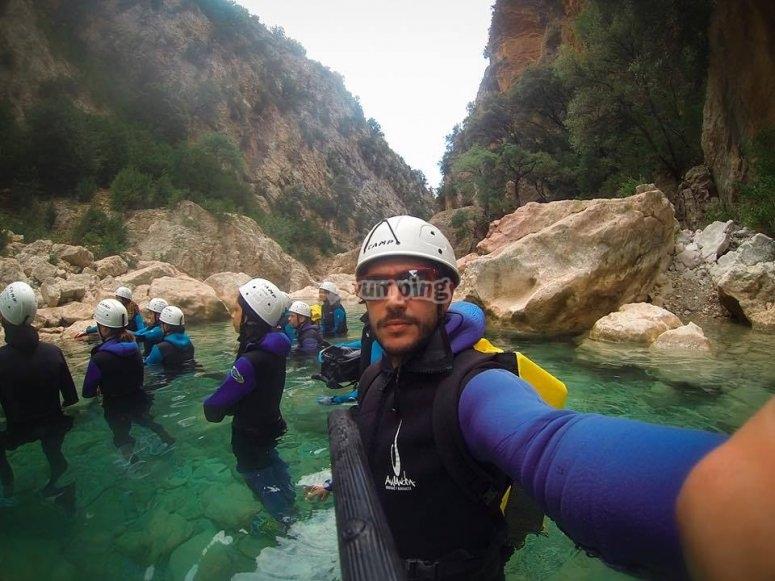 Preparados para el barranquismo en Huesca
