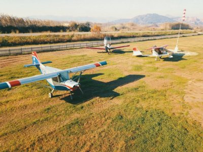 Light aircraft flight in Valencia for 45 min