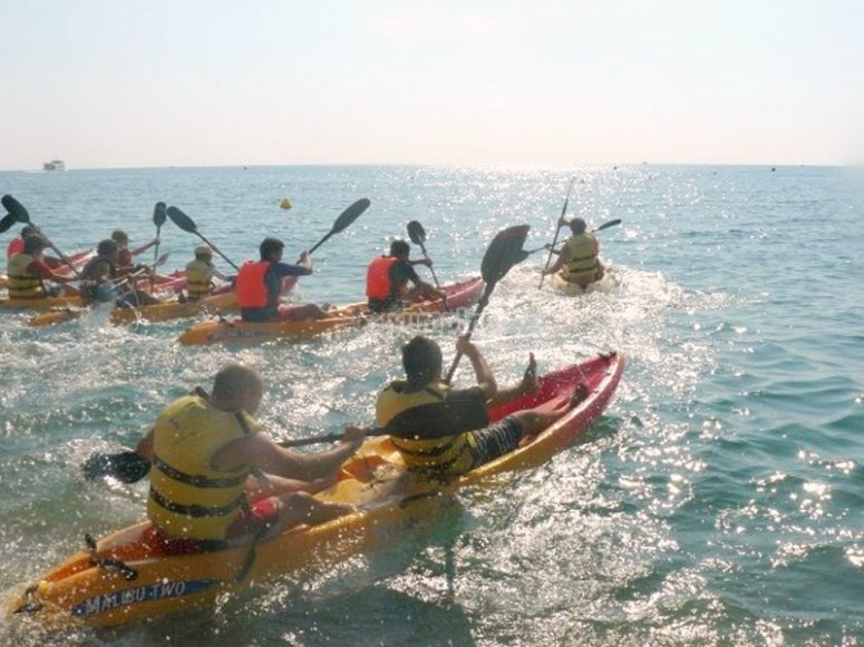 A route on Kayak