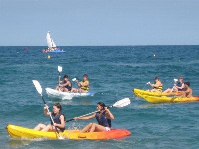 Salida en kayak biplaza en Calella 1h