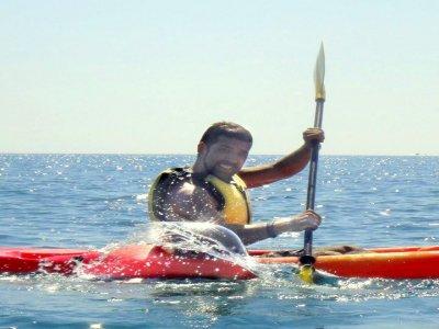 Partenza in kayak a due posti a Calella, 2 ore