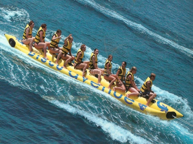 Banana boat en Calella
