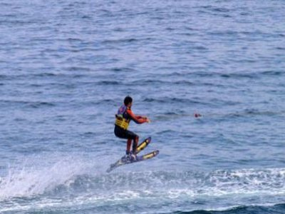 Waterskiing in Calella