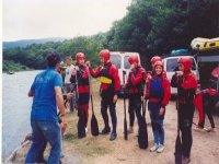 With the rafting people