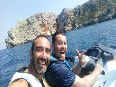 30分钟双水摩托车的路线选择。梅达斯群岛
