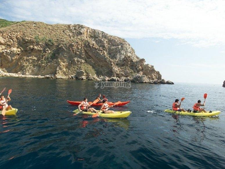 Alquiler de kayak en la Costa Brava
