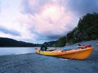 Kayak en la arena