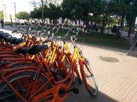Orange bike a Malaga