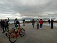 Bike stop per vedere la costa di Malaga