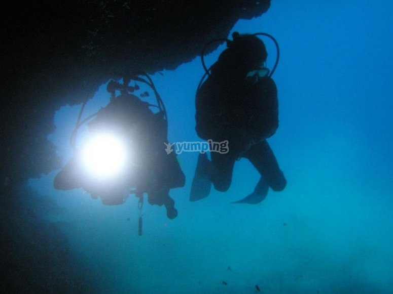 Scuba diving in Los Cancajos