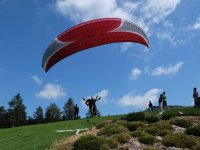 Taking off from the hillside in Huesca