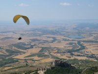 The castle of Loarre from the paraglider