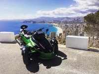 Can Am Spyder color verde Albir