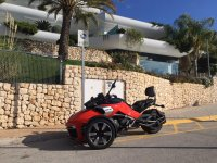 Can Am Spyder rojo