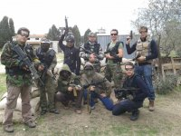 Playing airsoft in Madrid