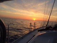 El atardecer en uno de nuestros barcos