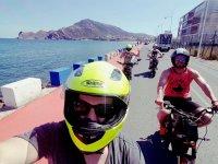 Ruta en moto eléctrica