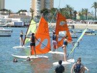 Group windsurfing