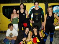 Group photo before night canyoning