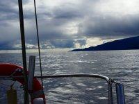 Divisando tierra desde el barco