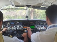 Panel de control de la avioneta