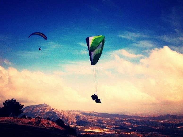 Paraglide flight in Alicante