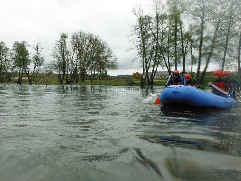 Comenzando el rafting en Ciudad Rodrigo